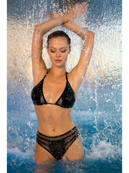Bikini maculato con trasparenze modello Celestie Obsessive Lingerie in vendita su Tangamania Online