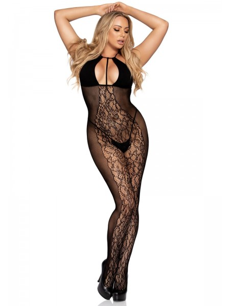 Sexy Bodystocking con inserto in pizzo Leg Avenue in vendita su Tangamania Online