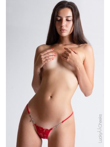 Love Story sexy mini perizoma lussuoso con Swarovski Lucky Cheeks in vendita su Tangamania Online