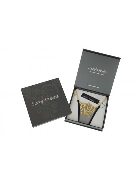 Queen of Love Black sfarzoso mini perizoma Lucky Cheeks in vendita su Tangamania Online
