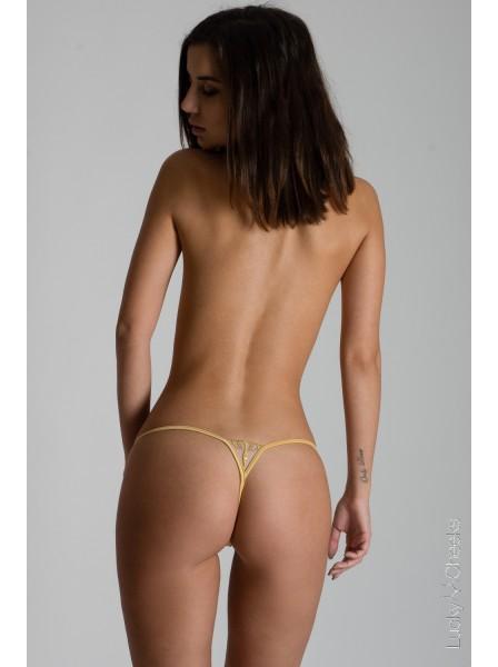 Queen of Love Gold sfarzoso mini perizoma oro Lucky Cheeks in vendita su Tangamania Online