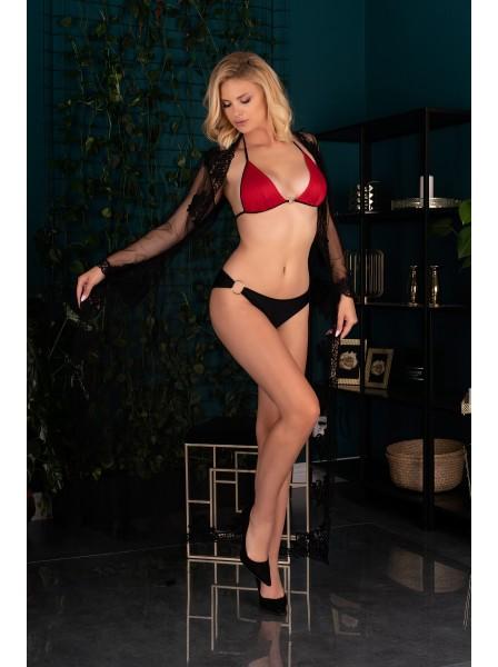 Sexy maxi vestaglia lunga in tulle e pizzo Nokina Livia Corsetti in vendita su Tangamania Online