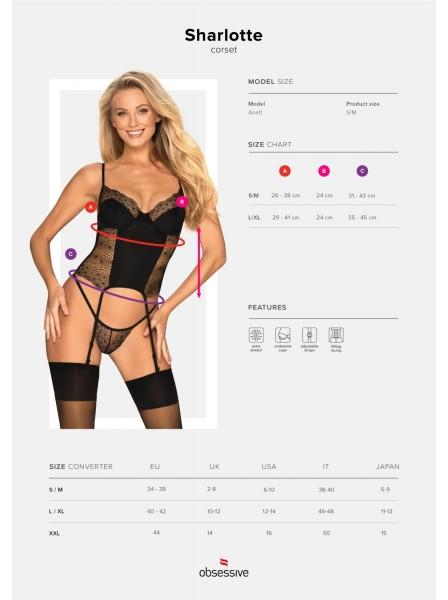 Sexy corsetto con perizoma Sharlotte Obsessive Lingerie in vendita su Tangamania Online