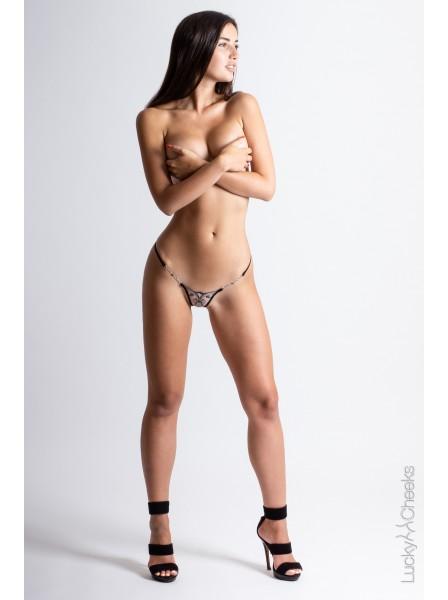My Love Mini lussuoso perizoma con applicazioni gioiello Lucky Cheeks in vendita su Tangamania Online