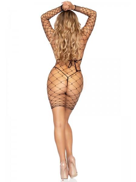 Sexy Abitino a maniche lunghe a rete larga Leg Avenue in vendita su Tangamania Online