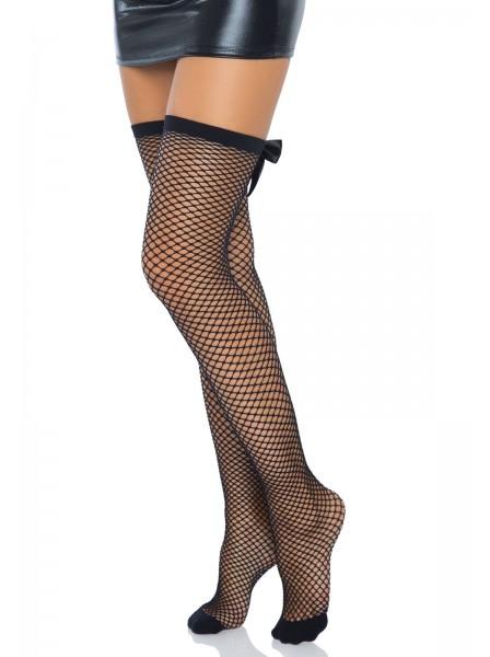 Sexy calze autoreggenti a rete con cucitura e punti luce Leg Avenue in vendita su Tangamania Online