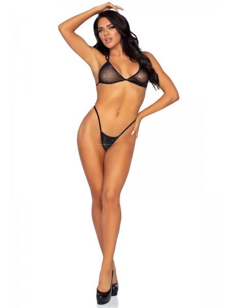 Sexy completino intimo in rete con punti luce Leg Avenue in vendita su Tangamania Online