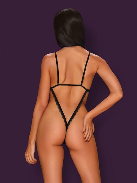 Sexy body nero con apertura inguinale collezione Millagro Obsessive Lingerie in vendita su Tangamania Online