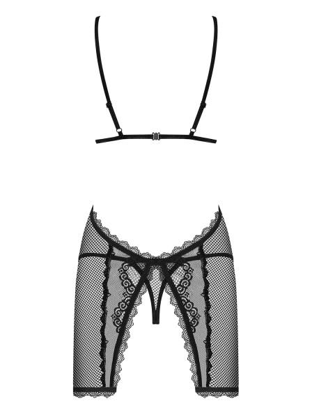 Sexy chemise nera con perizoma collezione Millagro Obsessive Lingerie in vendita su Tangamania Online