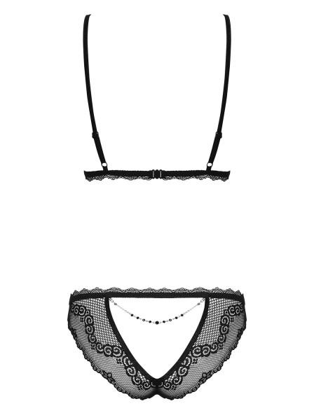 Sexy completino intimo nero collezione Millagro Obsessive Lingerie in vendita su Tangamania Online