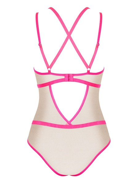 Elegante Body color nudo-pink collezione Nudelia Obsessive Lingerie in vendita su Tangamania Online