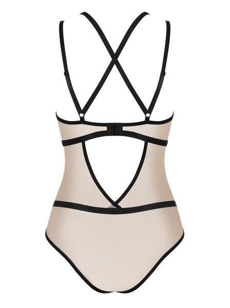 Elegante Body nude-nero collezione Nudelia Obsessive Lingerie in vendita su Tangamania Online