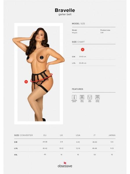 Sexy reggicalze con perizoma incorporato Bravelle Obsessive Lingerie in vendita su Tangamania Online