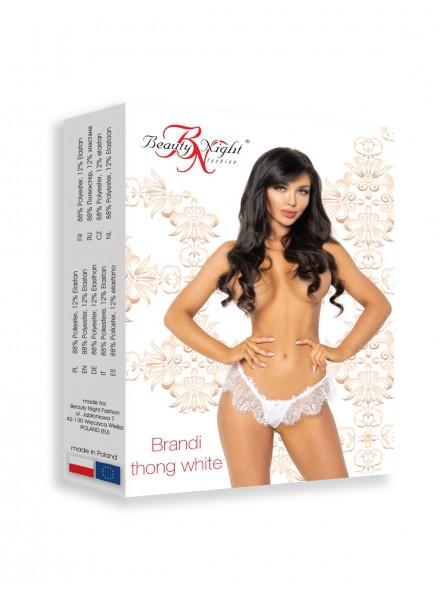 Sexy mutandine in pizzo bianco con apertura posteriore Brandi BeautyNight in vendita su Tangamania Online