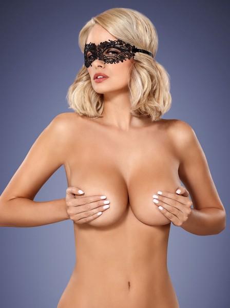 Maschera in pizzo nera A710 Obsessive Lingerie in vendita su Tangamania Online