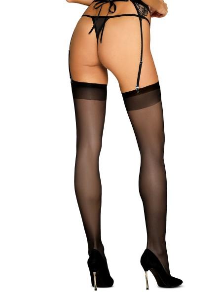 Sexy calze per reggicalze nere opache S813 Obsessive Lingerie in vendita su Tangamania Online