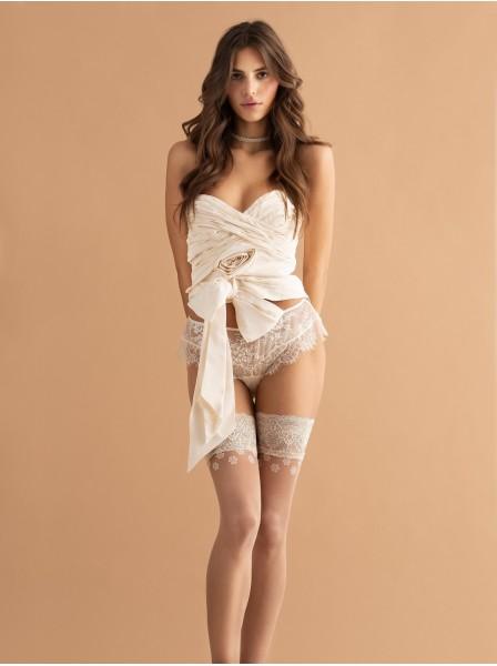 Calze autoreggenti 20 den modello Dolce Vita Fiore in vendita su Tangamania Online