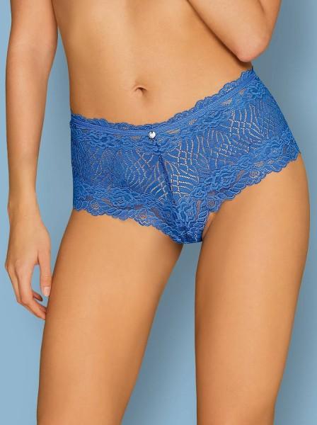 Shorts in delicato in pizzo blu Bluellia Obsessive Lingerie in vendita su Tangamania Online