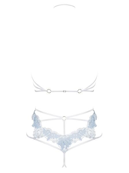 Sexy completino aperto color azzurrino Deilana Obsessive Lingerie in vendita su Tangamania Online