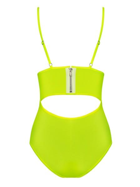 Sexy body stretch giallo lime Neonia Obsessive Lingerie in vendita su Tangamania Online