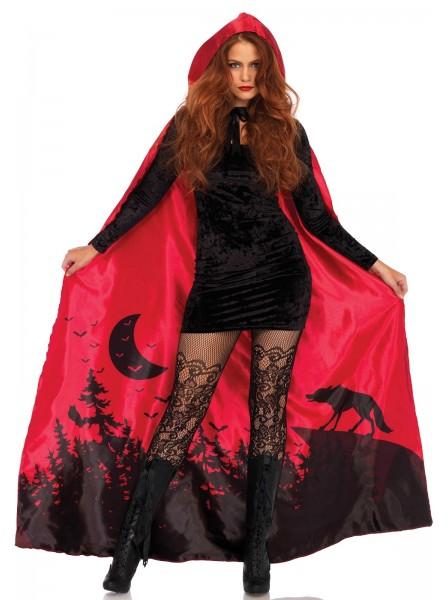 Mantello Rosso in raso a tema halloween Leg Avenue in vendita su Tangamania Online