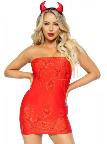 Sexy costume da diavoletta 3 pezzi Leg Avenue in vendita su Tangamania Online