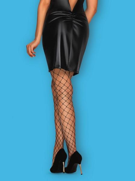 Calze autoreggenti rete larga con balza glitterata S819 Obsessive Lingerie in vendita su Tangamania Online