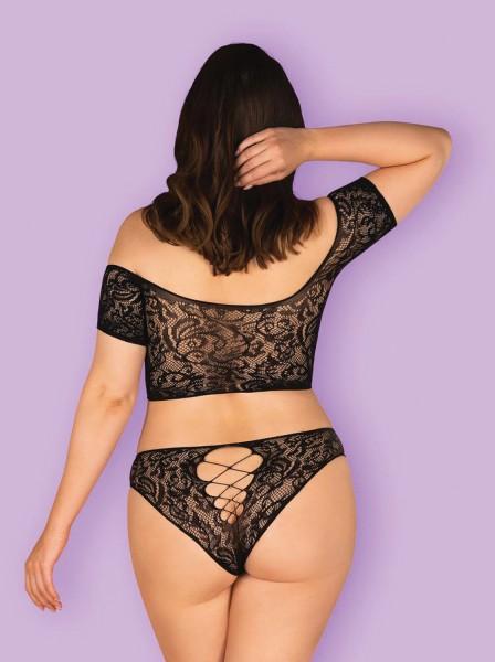 Sexy completino elasticizzato in tessuto stretch Inessita Obsessive Lingerie in vendita su Tangamania Online