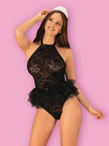 Travestimento erotico da cameriera Frilles Obsessive Lingerie in vendita su Tangamania Online