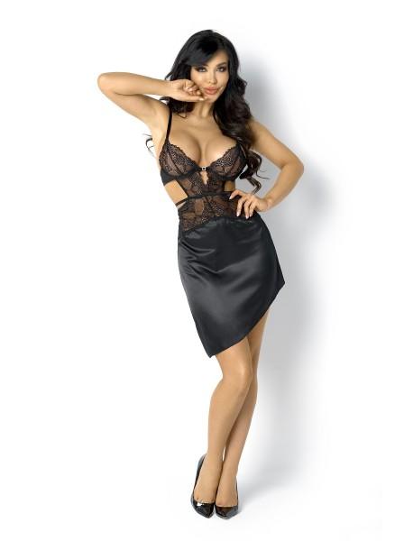 Raffinata e sexy chemise Fiorella in raso con top in pizzo BeautyNight in vendita su Tangamania Online