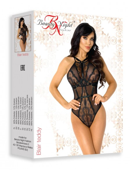 Sexy body Blair in tulle e pizzo con imbracatura bondage BeautyNight in vendita su Tangamania Online