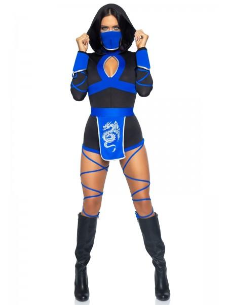 Dragon Ninja costume tre pezzi blu e nero Leg Avenue in vendita su Tangamania Online