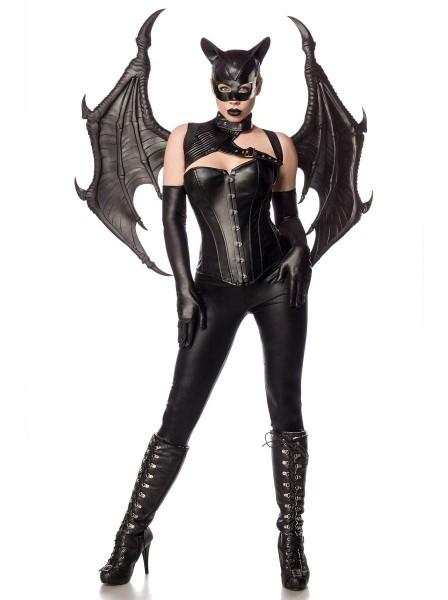 Travestimento per Halloween Bat Girl con ali grandi e accessori Mask Paradise in vendita su Tangamania Online