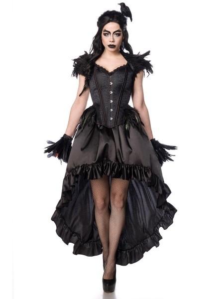 Sexy Travestimento per Halloween Lady Gotica con corvo e piume Mask Paradise in vendita su Tangamania Online