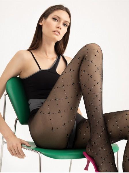Collant moda 20 den con lurex modello Rissa Fiore in vendita su Tangamania Online