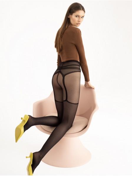 Collant moda effetto reggicalze 30 den modello Sublime Fiore in vendita su Tangamania Online