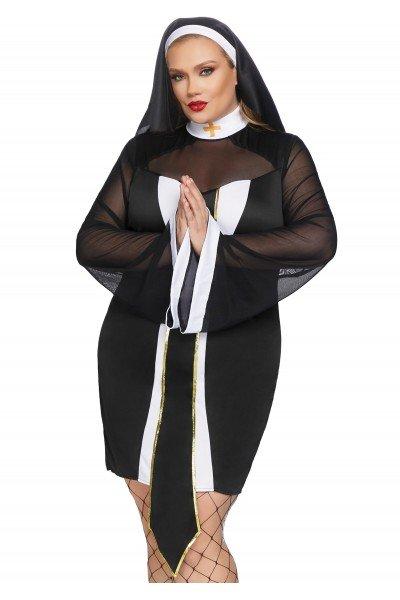 Costume curvy da suora per Halloween Leg Avenue in vendita su Tangamania Online