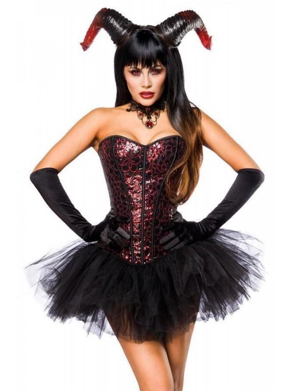 Costume Devil Lady con corpetto e sexy accessori Mask Paradise in vendita su Tangamania Online