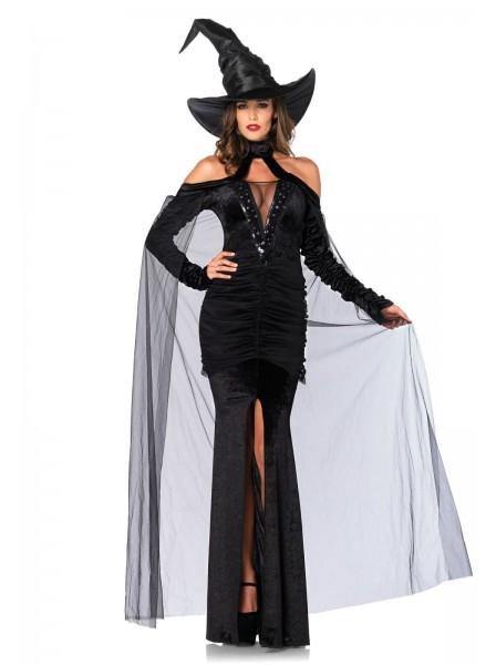 Costume Halloween da strega in velluto con paillettes Leg Avenue in vendita su Tangamania Online