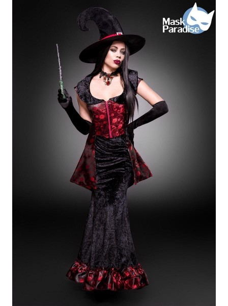 Costume per Halloween da strega accessoriato con top e gonna Mask Paradise in vendita su Tangamania Online