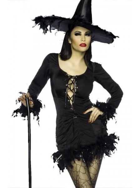 Costume per Halloween da strega con piume ALTRI BRAND in vendita su Tangamania Online