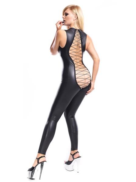 Ananke tutina in ecopelle con sexy allacciatura posteriore Demoniq in vendita su Tangamania Online