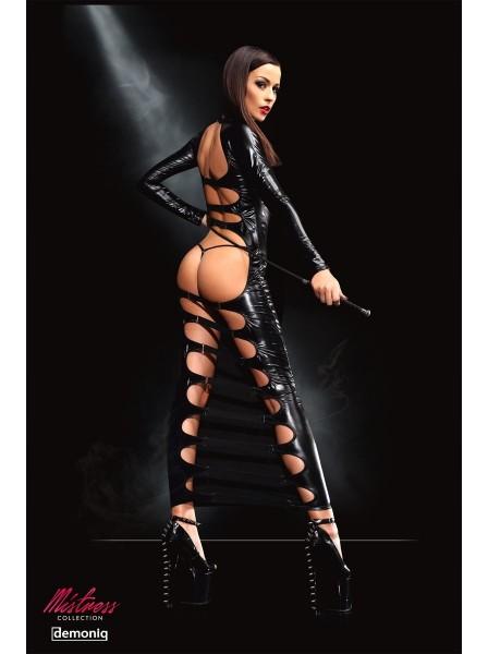 Dorothea abito lungo wetlook con sexy aperture dietro Demoniq in vendita su Tangamania Online