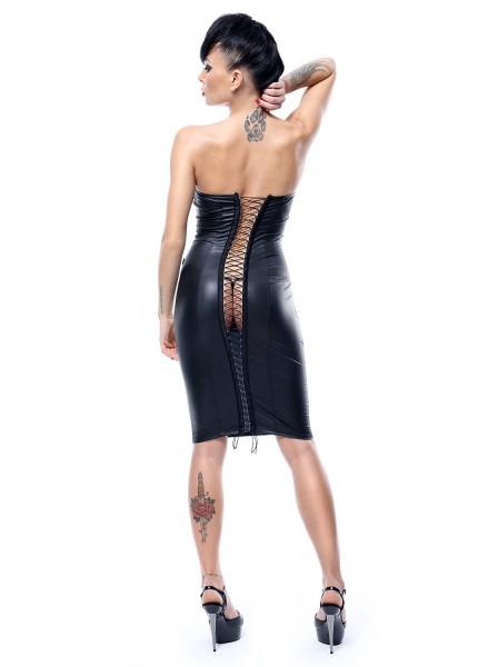 Ellen abitino in ecopelle con apertura dietro Demoniq in vendita su Tangamania Online