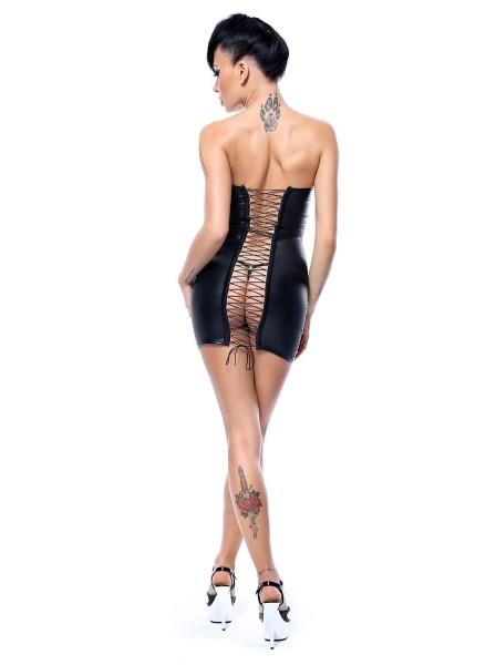 Greta abitino wetlook con sexy allacciatura a stringhe Demoniq in vendita su Tangamania Online