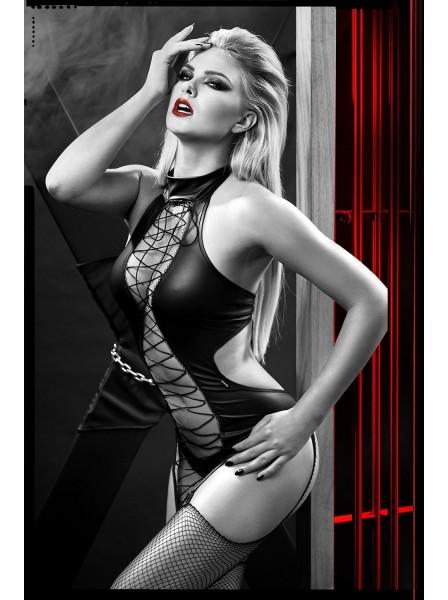 Hekate corsetto in ecopelle con perizoma Demoniq in vendita su Tangamania Online
