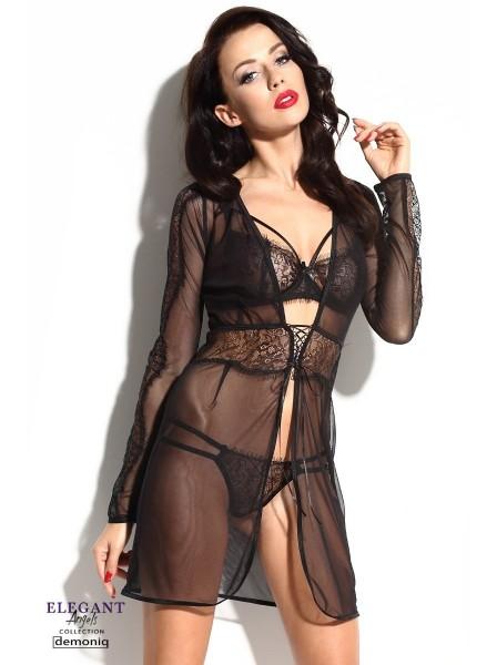 Marcelle sexy vestaglia in tulle nero Demoniq in vendita su Tangamania Online