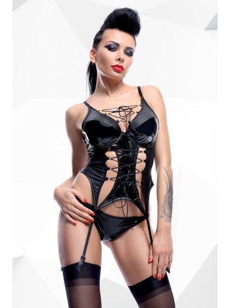Ruth corsetto wetlook con ferretto Demoniq in vendita su Tangamania Online