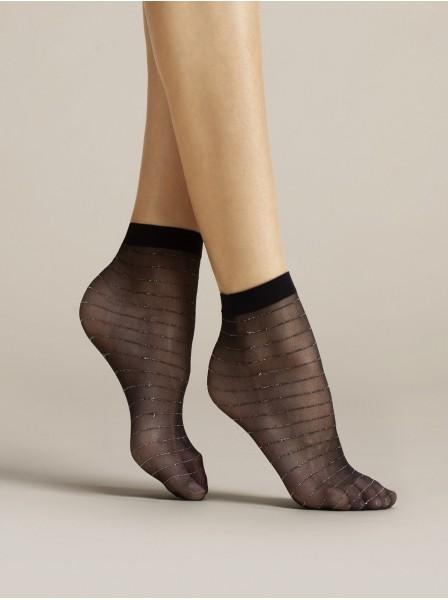Anello calzini 20 denari con dettagli lurex Fiore in vendita su Tangamania Online