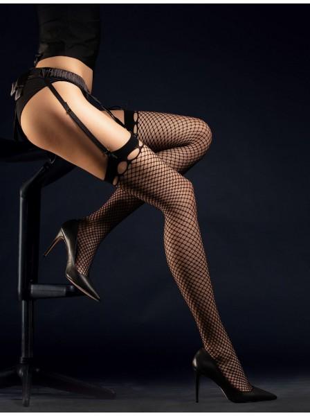 Burlesque calze da reggicalze a rete Fiore in vendita su Tangamania Online